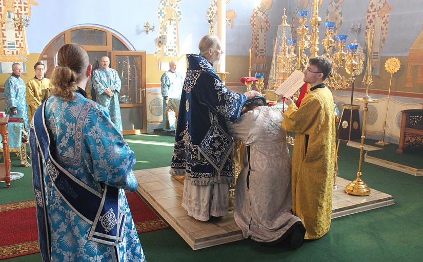 Хиротония в Александро-Невском соборе в день праздника Благовещения Пресвятой Богородицы