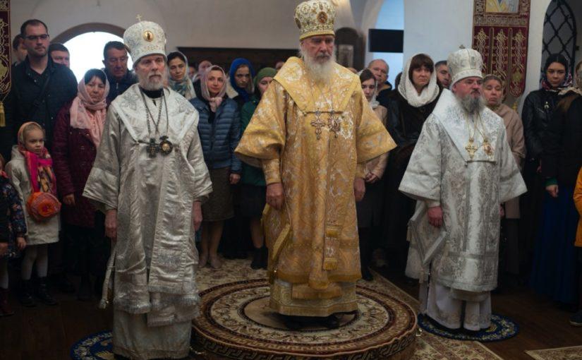 Архиереи Калужской митрополии совершили Великое освящение Предтеченского храма с. Губино